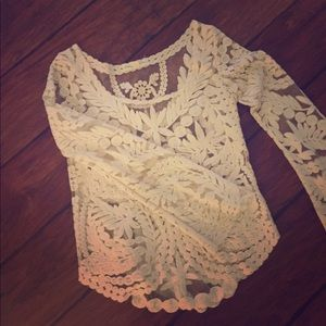 White lace top UO